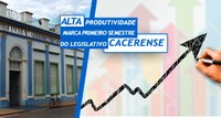 Alta produtividade marca primeiro semestre do Legislativo Cacerense