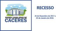 Recesso Administrativo da Câmara Municipal de Cáceres